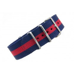 Stripe : Navy Red Navy-20mm