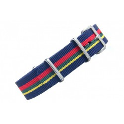 Stripe : Navy Red Green Yellow Navy-20mm